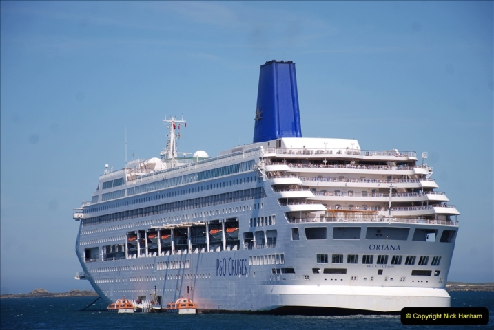 2019 June 28 to 05 July P&O MV Oriana France, Spain and Guernsey. (208) Guernsey CI. Tender back to our ship. 208