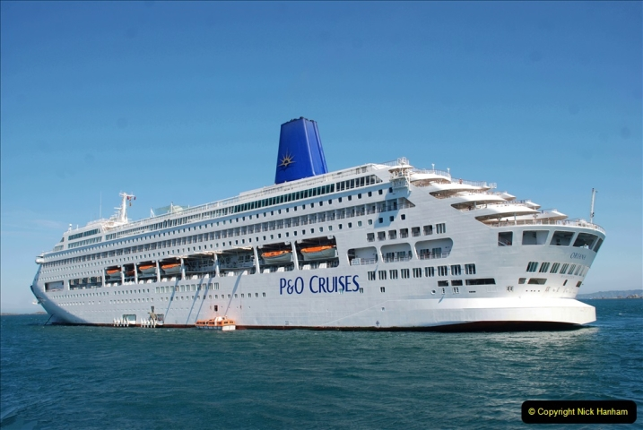 2019 June 28 to 05 July P&O MV Oriana France, Spain and Guernsey. (209) Guernsey CI. Tender back to our ship. 209