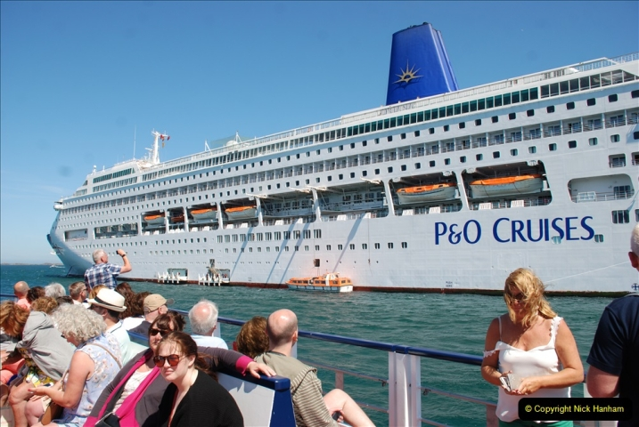 2019 June 28 to 05 July P&O MV Oriana France, Spain and Guernsey. (210) Guernsey CI. Tender back to our ship. 210