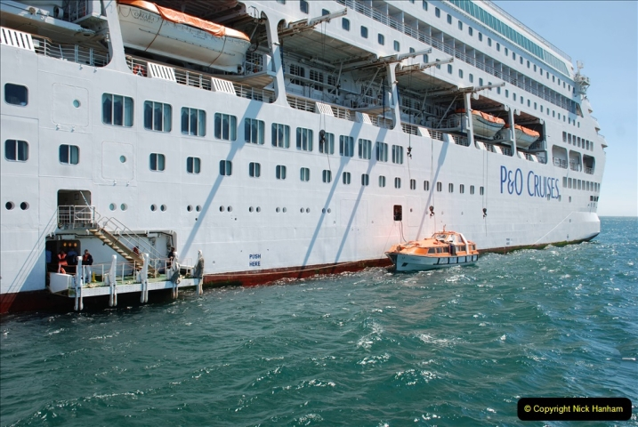 2019 June 28 to 05 July P&O MV Oriana France, Spain and Guernsey. (214) Guernsey CI. Tender back to our ship. 214