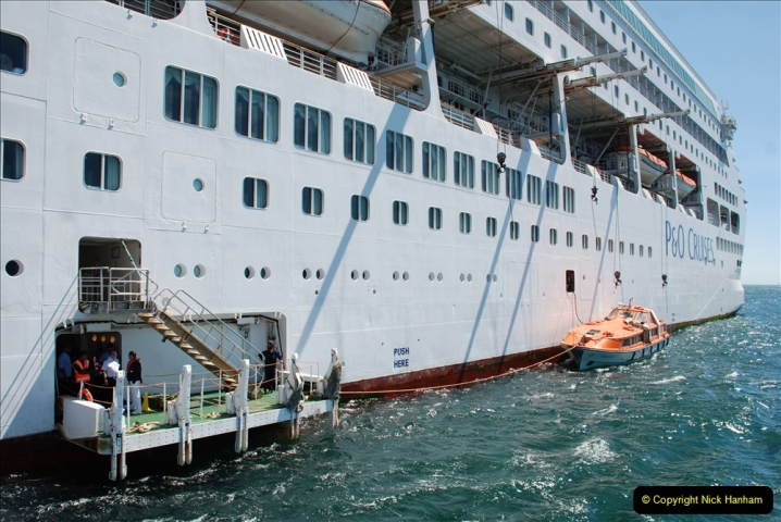 2019 June 28 to 05 July P&O MV Oriana France, Spain and Guernsey. (216) Guernsey CI. Tender back to our ship. 216