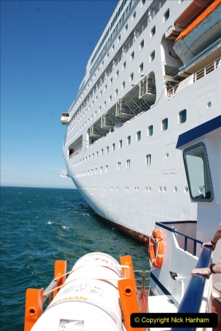 2019 June 28 to 05 July P&O MV Oriana France, Spain and Guernsey. (223) Guernsey CI. Tender back to our ship. 223