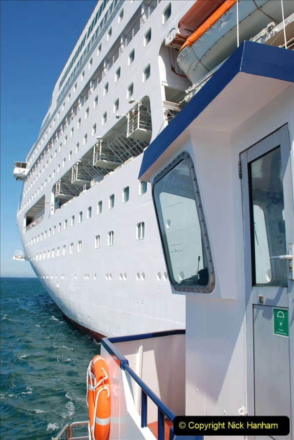 2019 June 28 to 05 July P&O MV Oriana France, Spain and Guernsey. (225) Guernsey CI. Tender back to our ship. 225