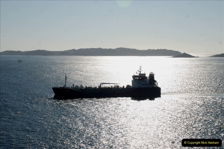 2019 June 28 to 05 July P&O MV Oriana France, Spain and Guernsey. (229) Guernsey CI. Leaving Guernsey for Southampton. 229