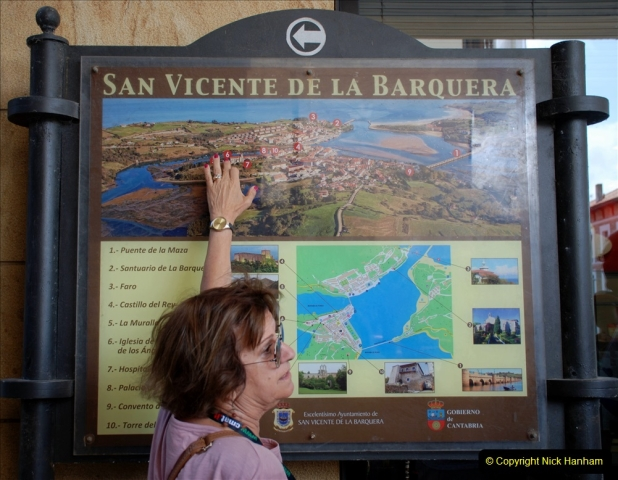2019 June 28 to 05 July P&O MV Oriana France, Spain and Guernsey. (117) Santander, Spain. San Vincente. Tour guide.117