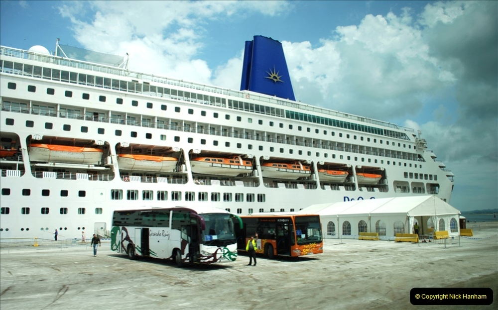 2019 June 28 to 05 July P&O MV Oriana France, Spain and Guernsey. (174) Santander, Spain. Back to out shi. 174