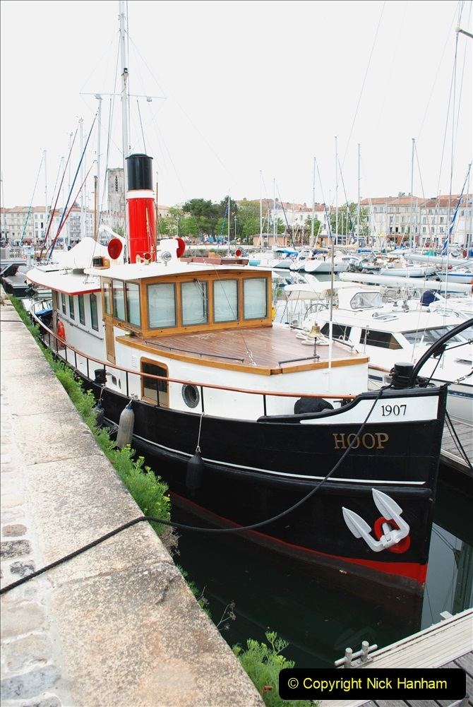 2019 June 28 to 05 July P&O MV Oriana France, Spain and Guernsey. (72) La Rochelle, France. Steam powered boat. 072