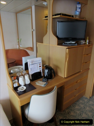 2019 June 28 to 05 July P&O MV Oriana France, Spain and Guernsey. (20) Our cabin. 020