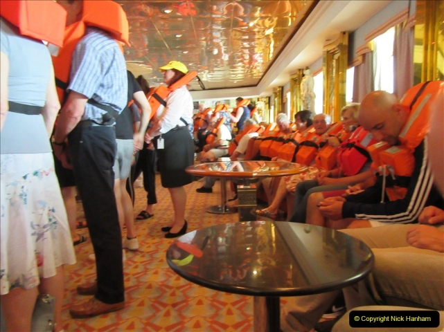 2019 June 28 to 05 July P&O MV Oriana France, Spain and Guernsey. (94) Safety drill.094