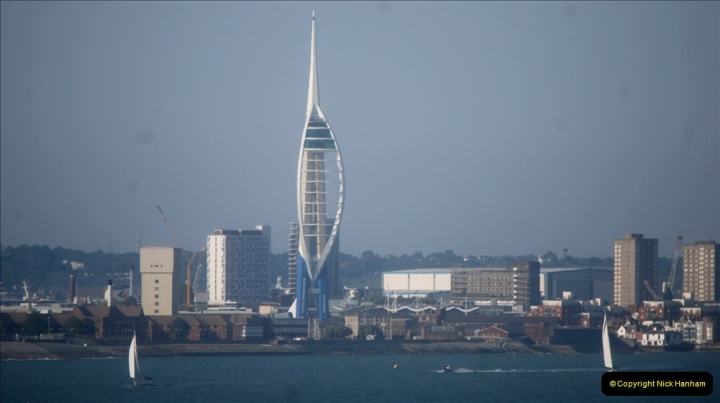 2019 June 28 to 05 July P&O MV Oriana France, Spain and Guernsey. (159) On the way. Portsmouth.159
