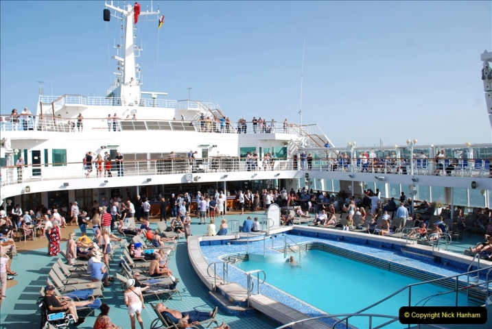 2019 June 28 to 05 July P&O MV Oriana France, Spain and Guernsey. (162) Second day at sea. 162