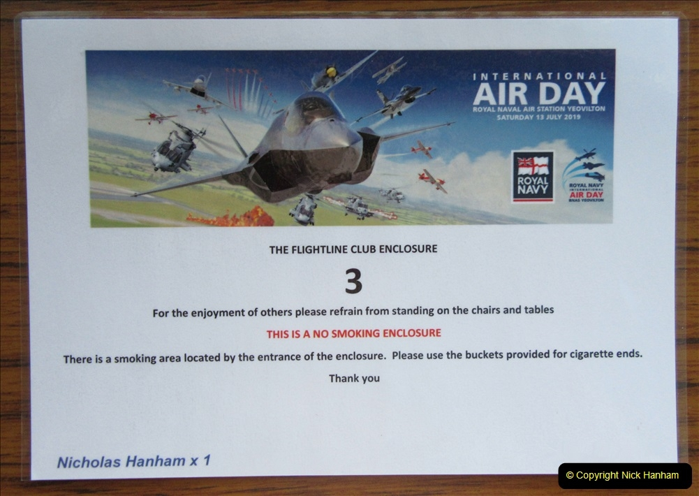 2019-07-13 Yeovilton Air Day. (9) Your Host treated himself to the top enclosure.