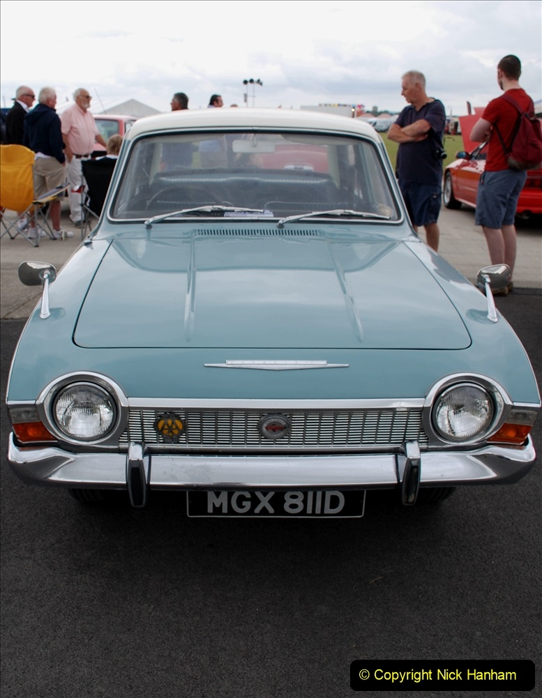 2019-07-13 Yeovilton Air Day. (63)  Your Host had a 1965 Cregistration Ford Corsair.