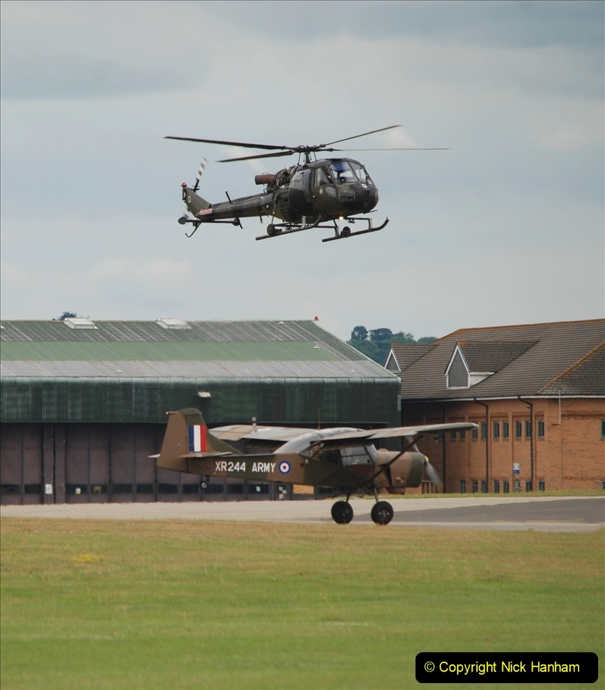 2019-07-13 Yeovilton Air Day. (540) Auster AOP and Scout AH1.
