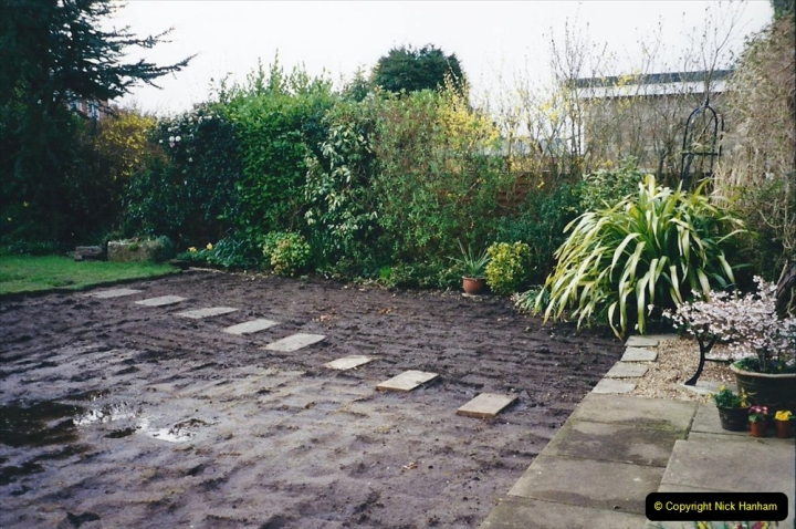 2001 Garden improvements at my Wifes cousins by your Host. Garden designed by my Wife's cousin.  (13) 13