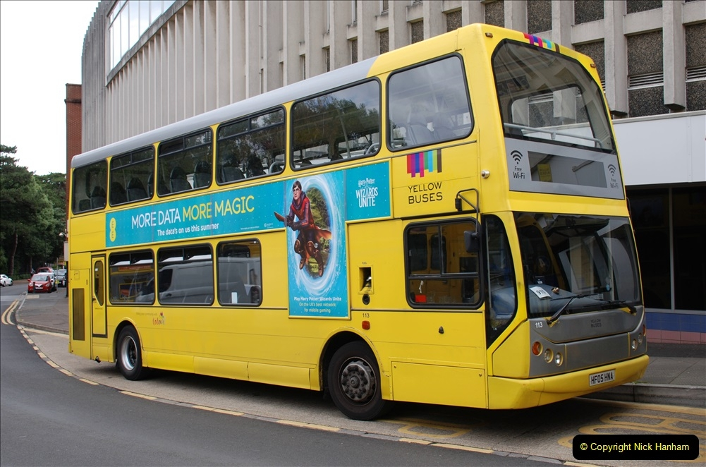 2019-07-18 More Yellow Buses Number 2 (4) Bournemouth Square 1230 to 1330 and journey home. 004