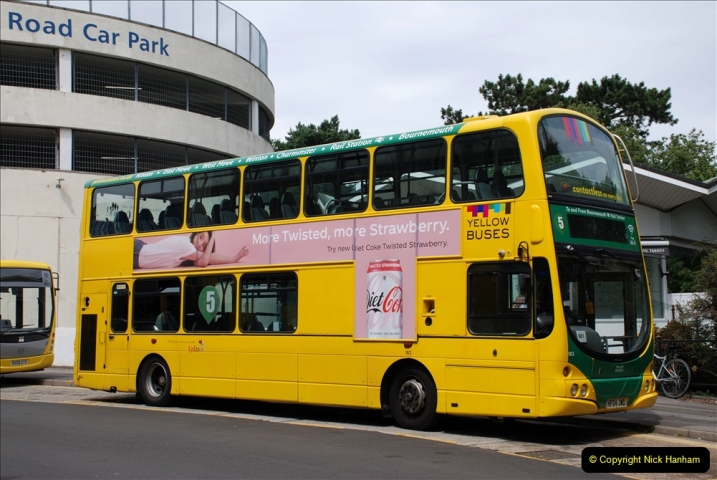 2019-07-18 More Yellow Buses Number 2 (6) Bournemouth Square 1230 to 1330 and journey home. 006