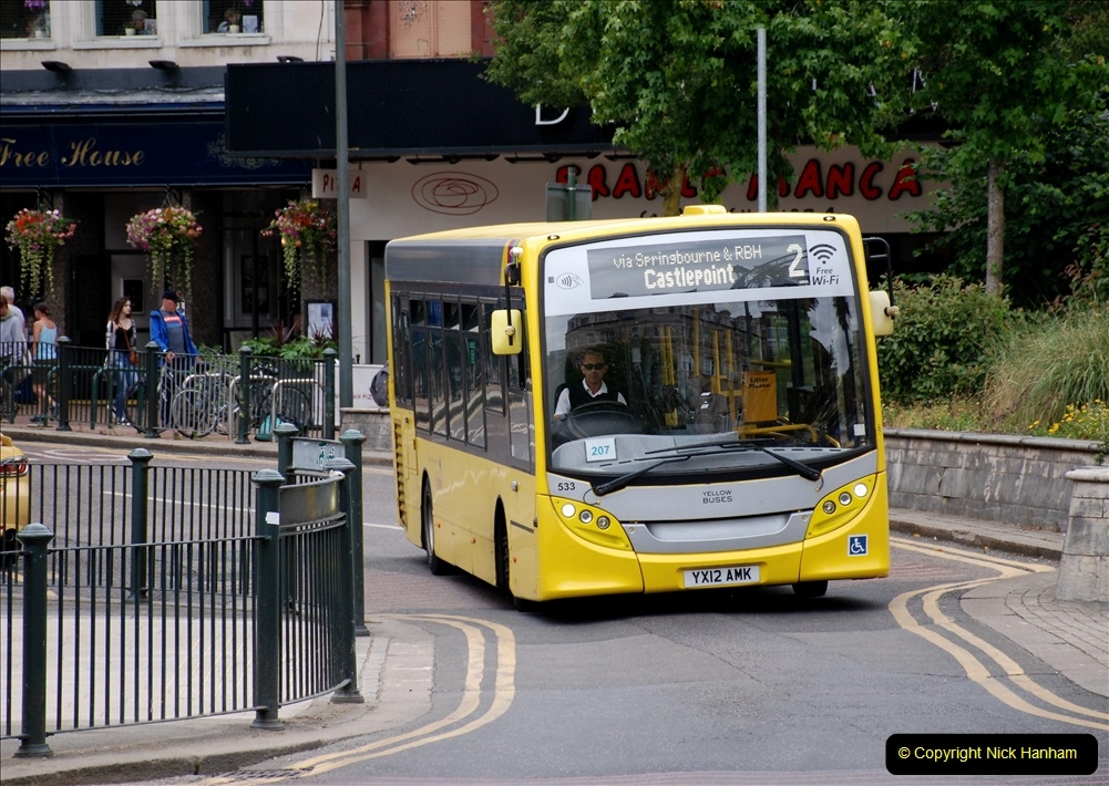 2019-07-18 More Yellow Buses Number 2 (17) Bournemouth Square 1230 to 1330 and journey home. 017