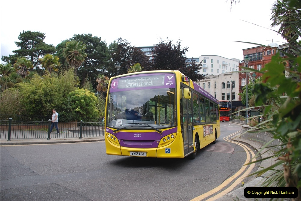 2019-07-18 More Yellow Buses Number 2 (20) Bournemouth Square 1230 to 1330 and journey home. 020