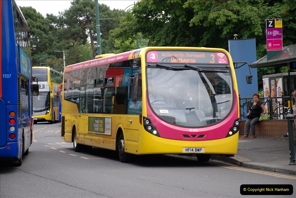 2019-07-18 More Yellow Buses Number 2 (21) Bournemouth Square 1230 to 1330 and journey home. 021