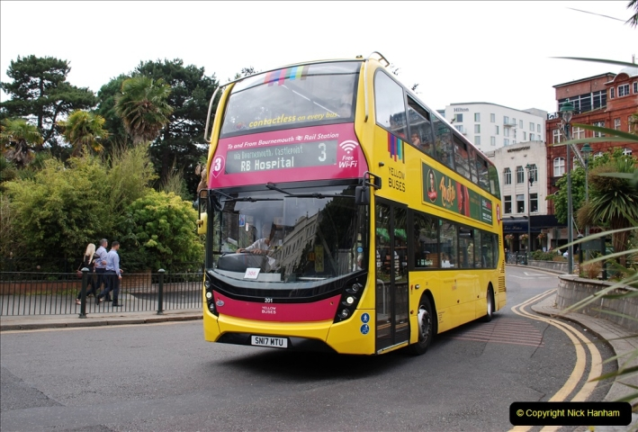 2019-07-18 More Yellow Buses Number 2 (30) Bournemouth Square 1230 to 1330 and journey home. 030