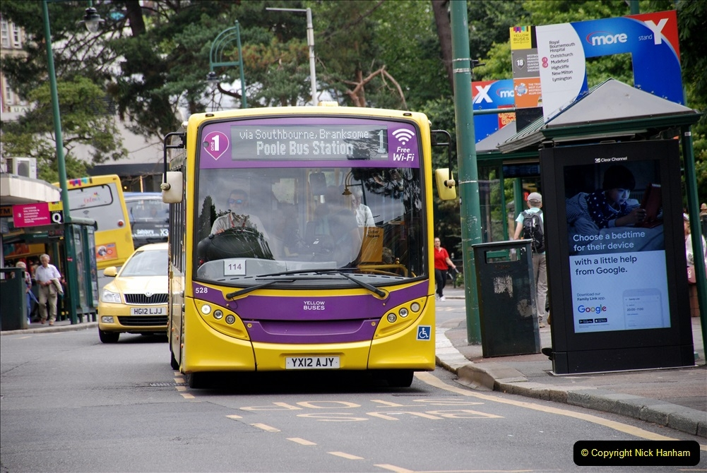 2019-07-18 More Yellow Buses Number 2 (32) Bournemouth Square 1230 to 1330 and journey home. 032
