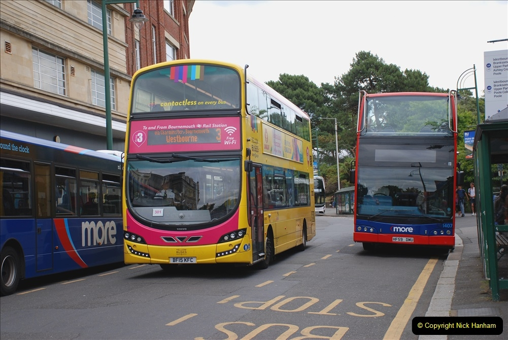 2019-07-18 More Yellow Buses Number 2 (55) Bournemouth Square 1230 to 1330 and journey home. 055