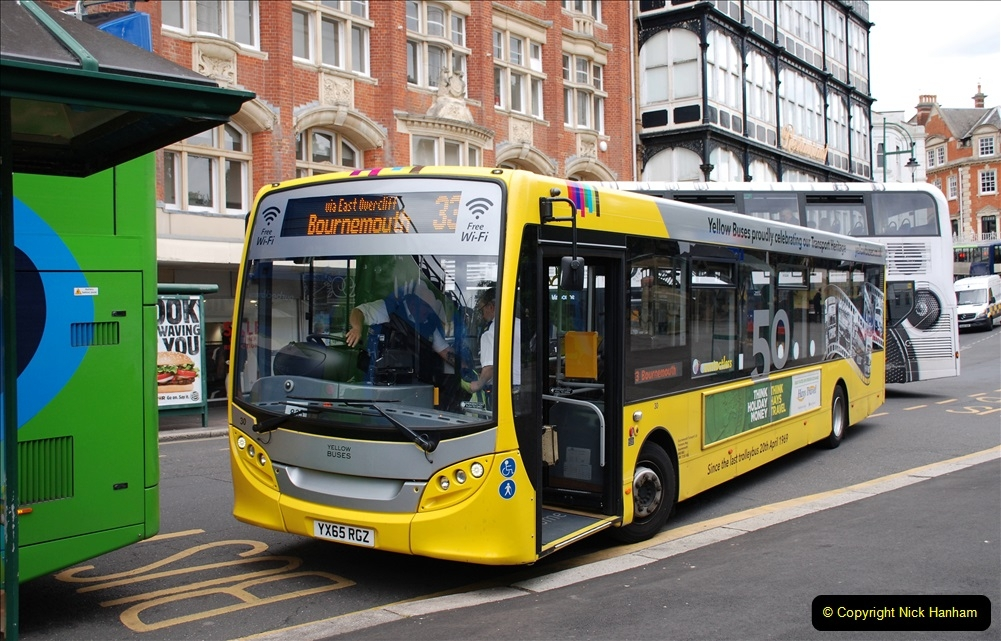 2019-07-18 More Yellow Buses Number 2 (64) Bournemouth Square 1230 to 1330 and journey home. 064