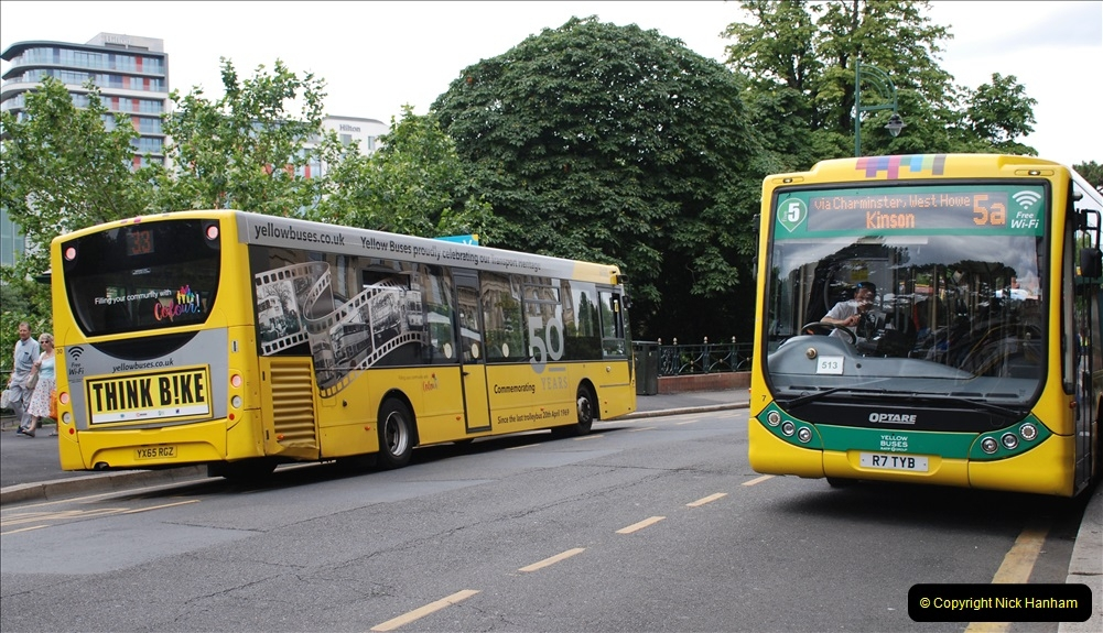 2019-07-18 More Yellow Buses Number 2 (81) Bournemouth Square 1230 to 1330 and journey home. 081