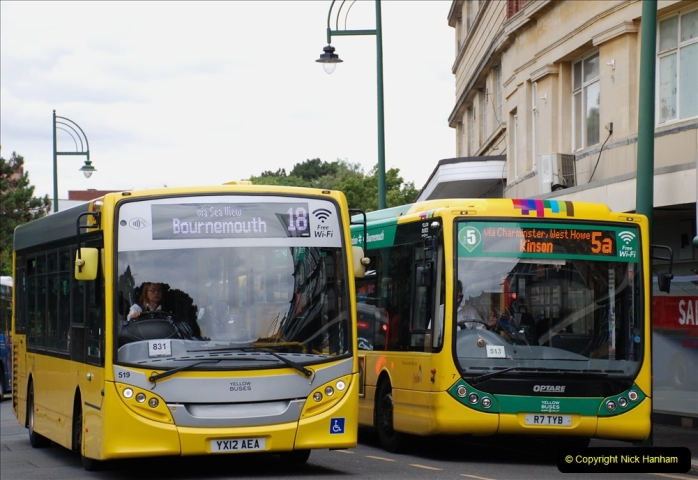 2019-07-18 More Yellow Buses Number 2 (91) Bournemouth Square 1230 to 1330 and journey home. 091