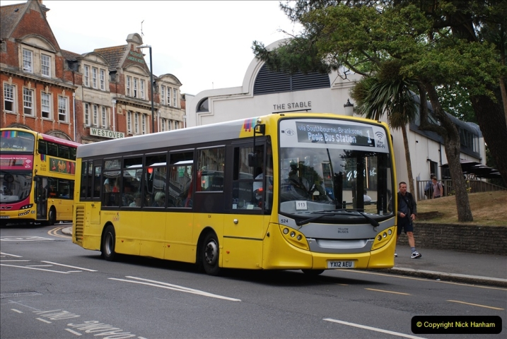 2019-07-18 More Yellow Buses Number 2 (94) Bournemouth Square 1230 to 1330 and journey home. 094