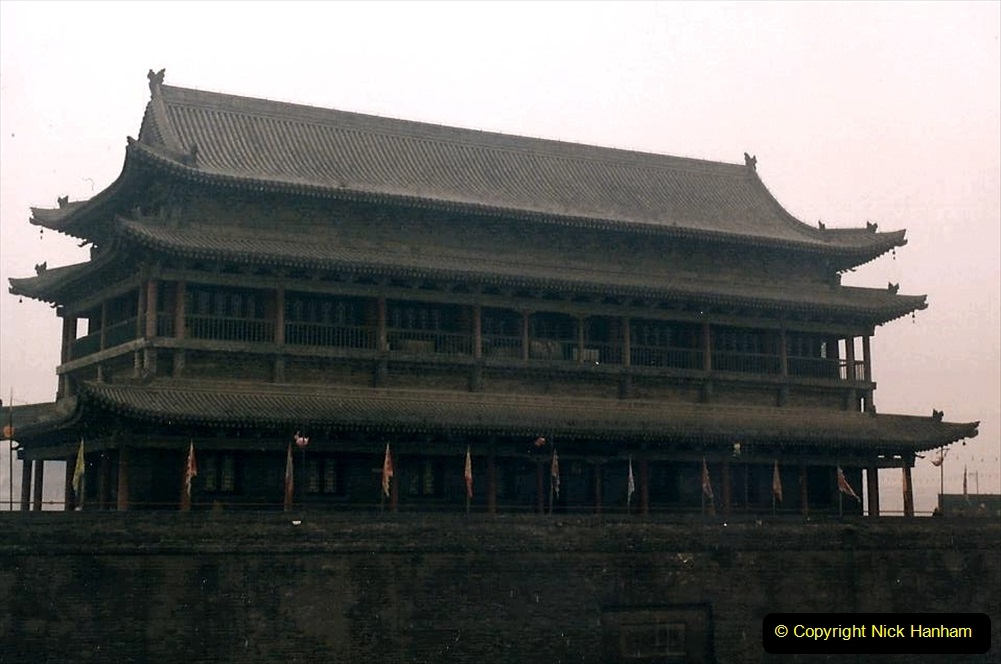China 1993 April. (5) Watch Tower on the city walls.005