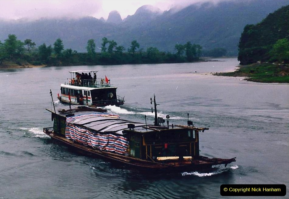 China 1993 April. (99) On the Li or Lijiang River  to Yangshuo. 099