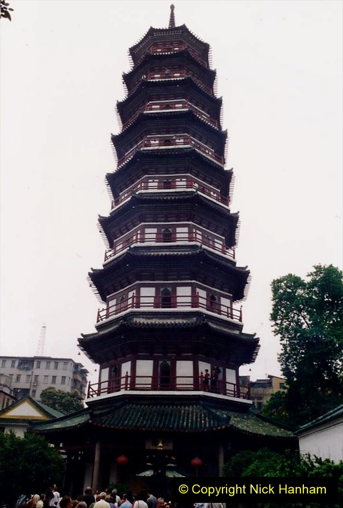 China 1993 April. (187)  Flower Pagoda Guangzhou. 187