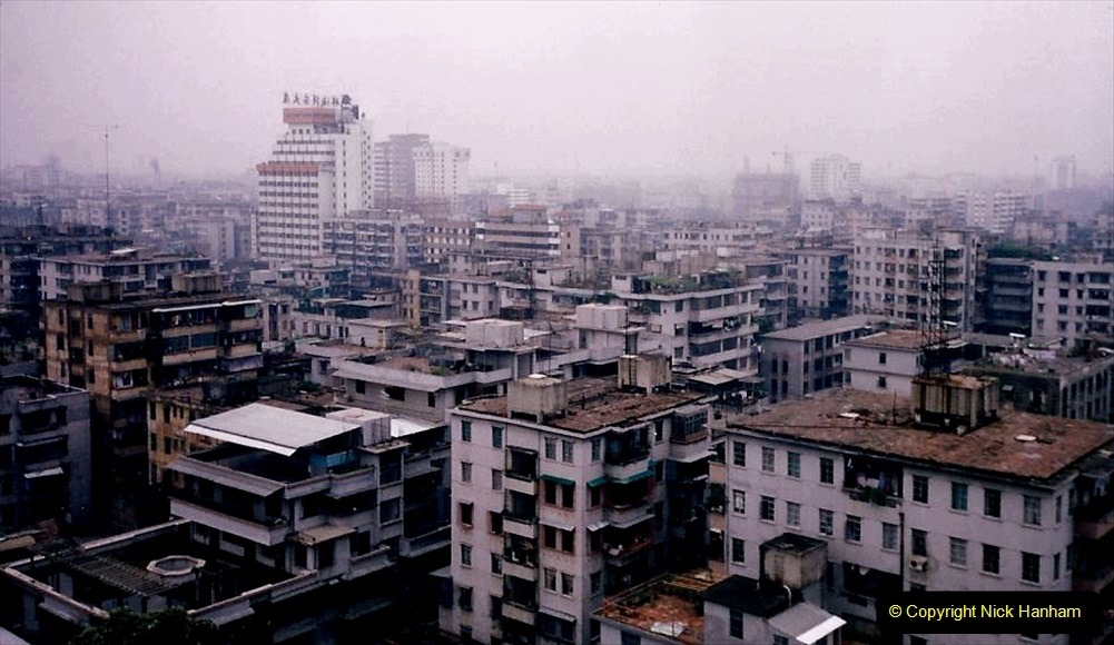 China 1993 April. (189) Views of Guangzhou from the Flower Pagoda. 189