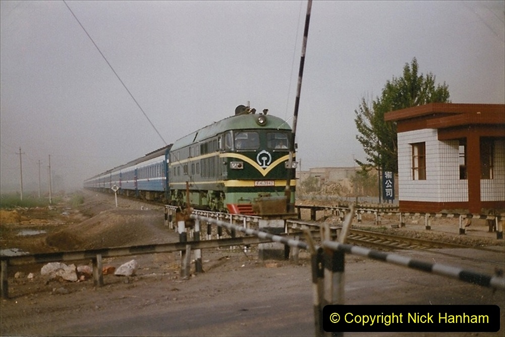 Pakistan and China 1996 June. (341) Level crossing activity. 341