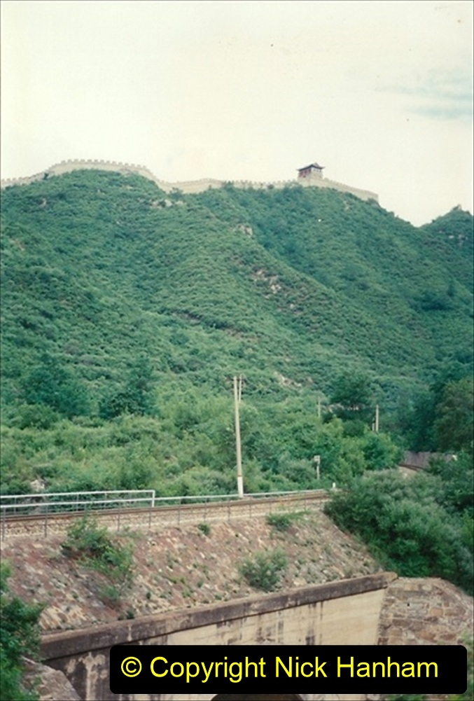 Pakistan and China 1996 June. (103) Passing through The Great Wall area near Beijing. 103