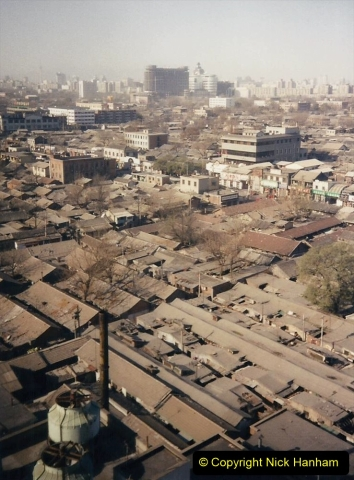 China 1997 November Number 1. (23) Beijing Hotel and view from room window. 023