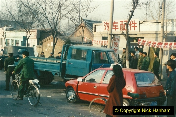 China 1997 November Number 1. (150) From the shed back to the branch for linesiding. A bit of bother between two vehicles. 150