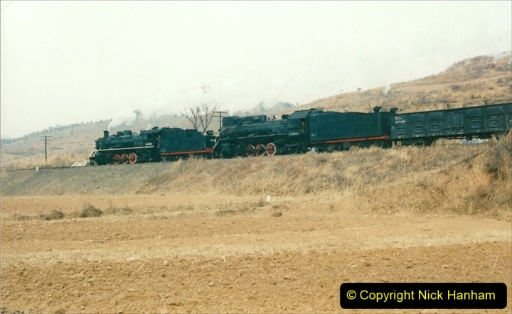 China 1997 November Number 1. (154) Linesiding on the Steel Works branch. 154