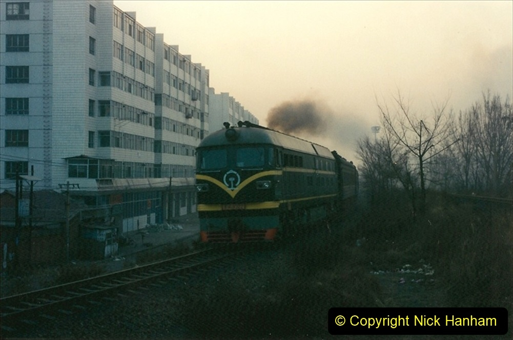 China 1997 November Number 2. (205) Back in Chengde and early AM trains. 205