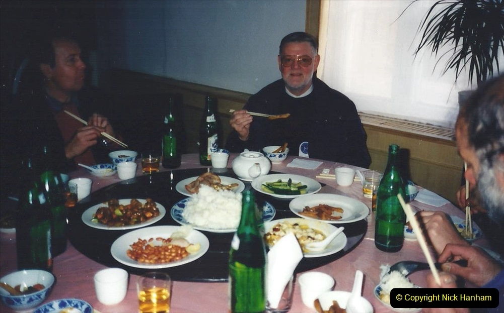 China 1997 November Number 2. (238) Last meal in Chengde. Note using chopsticks.238