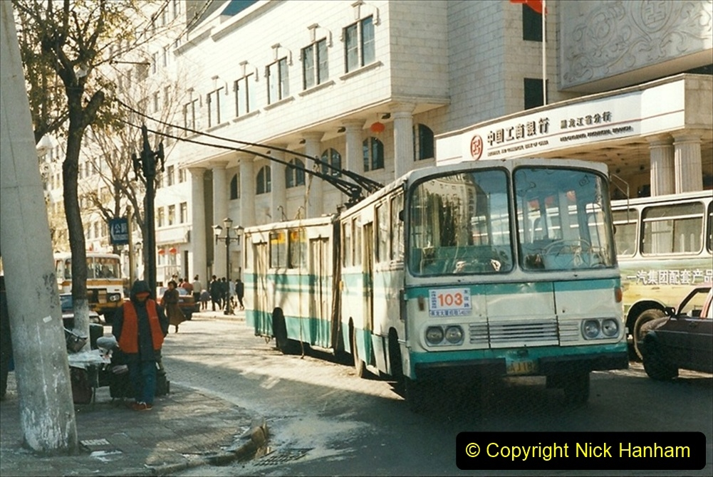 China 1999 October Number 1. (44) Harbin buses.