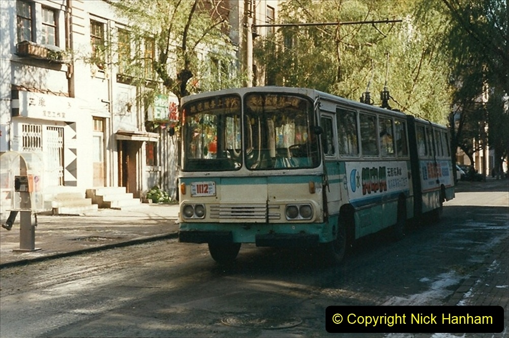 China 1999 October Number 1. (48) Harbin buses.