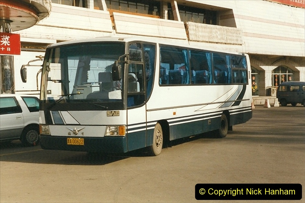 China 1999 October Number 1. (52) Harbin buses.