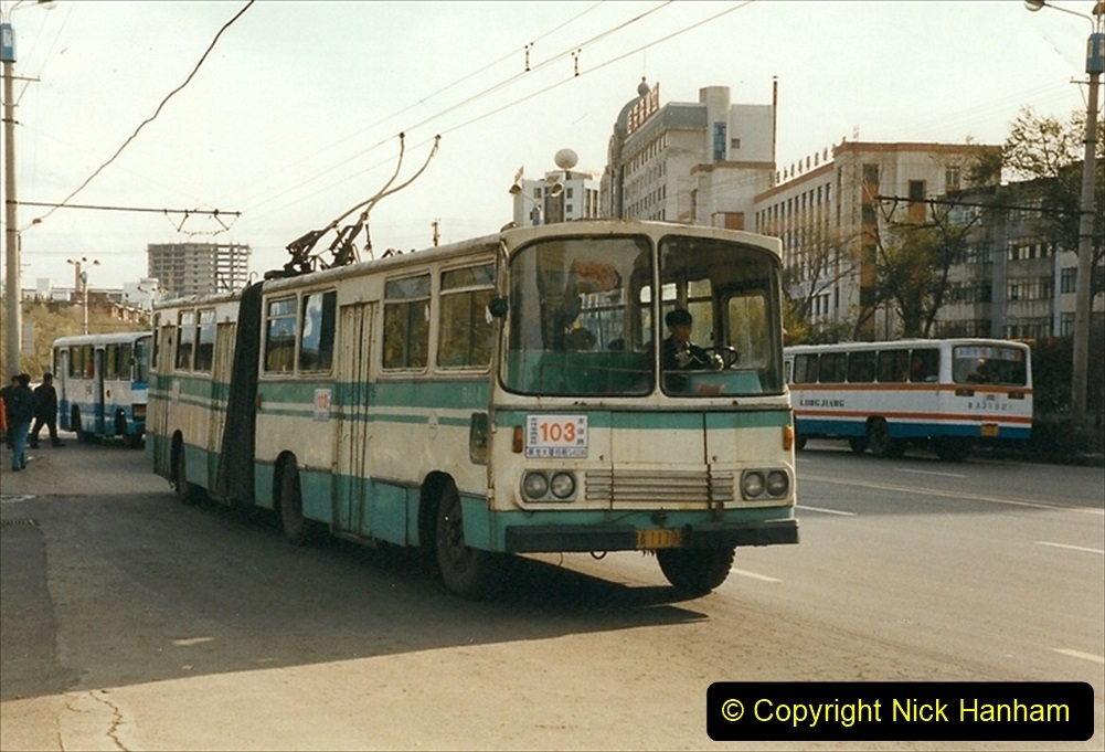China 1999 October Number 1. (55) Harbin buses.