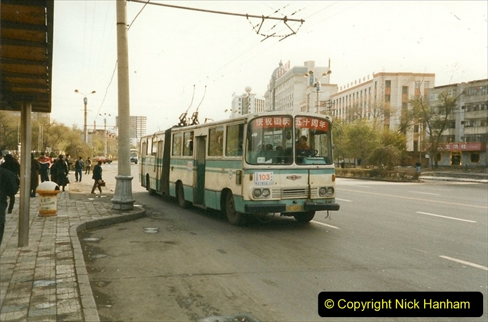 China 1999 October Number 1. (56) Harbin buses.