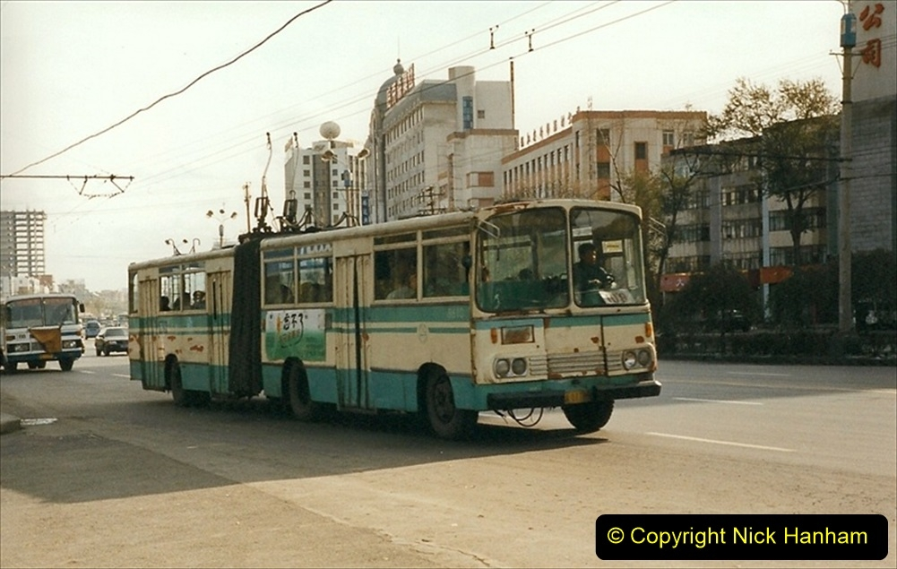 China 1999 October Number 1. (57) Harbin buses.