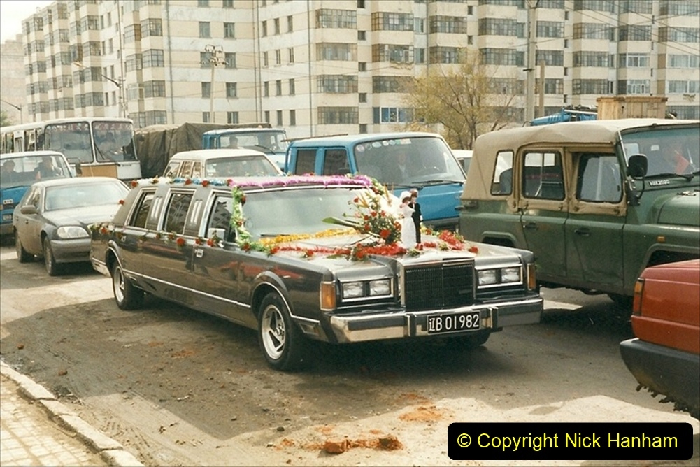 China 1999 October Number 1. (71) Harbin railways and local happenings at minus 12. Wedding car.