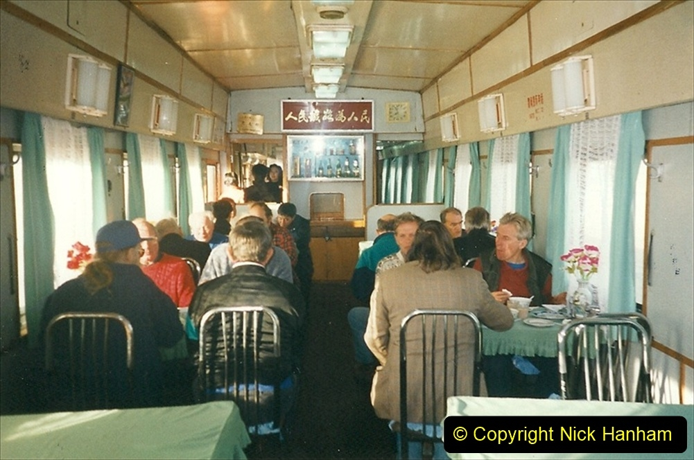 China 1999 October Number 1. (100) From Harbin to Jalainur by train.